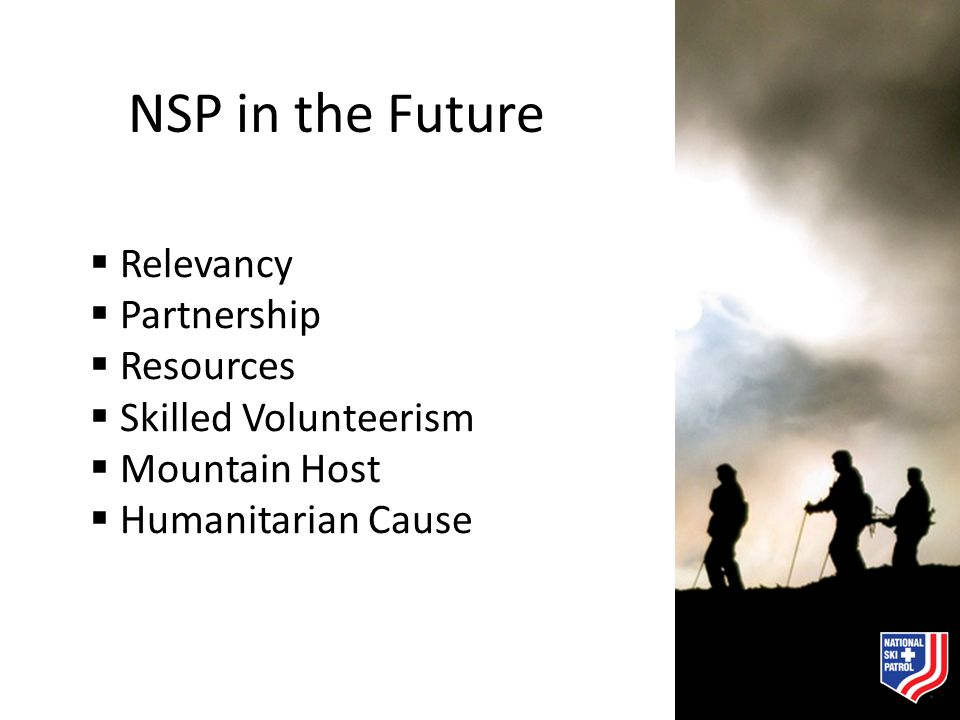 NSP in the Future Relevancy Partnership Resources Skilled Volunteerism