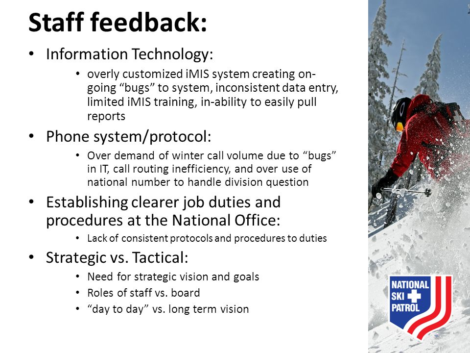 Staff feedback: Information Technology: Phone system/protocol: