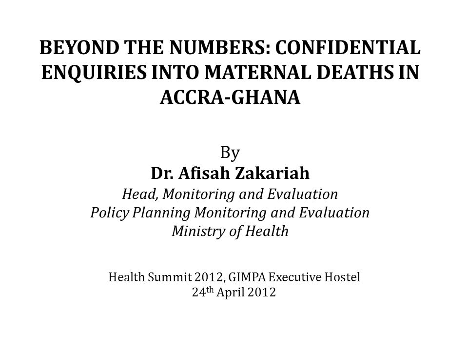 Health Summit 2012, GIMPA Executive Hostel 24th April 2012