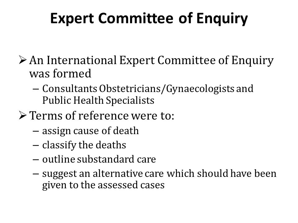 Expert Committee of Enquiry