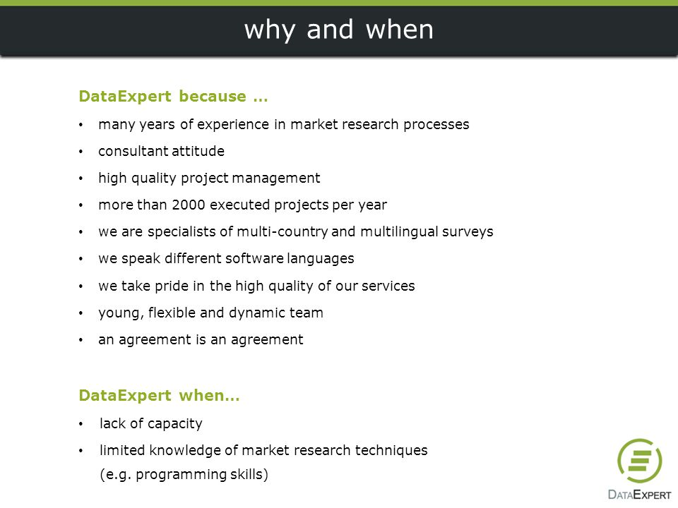why and when DataExpert because … DataExpert when…