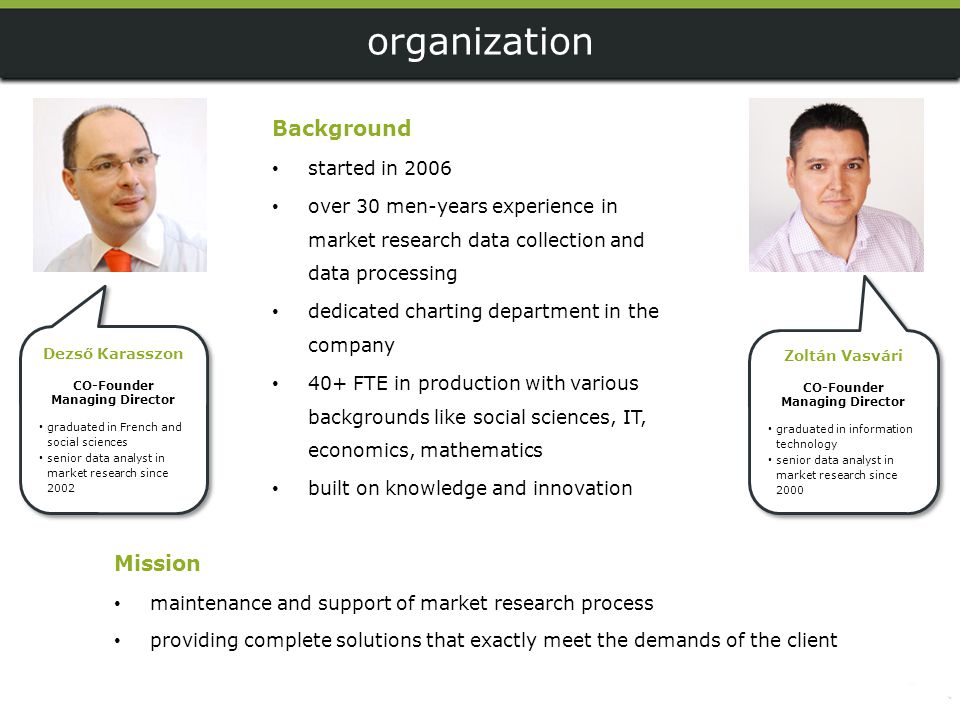 organization Background Mission started in 2006