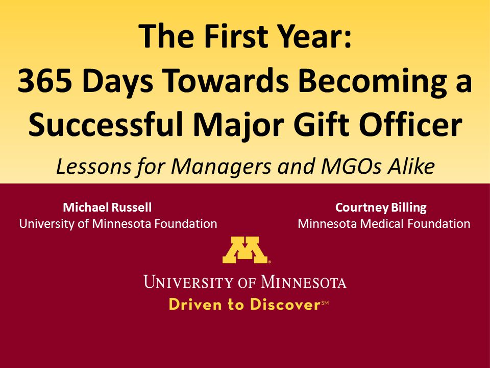 365 Days Towards Becoming a Successful Major Gift Officer