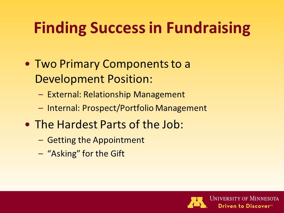 Finding Success in Fundraising