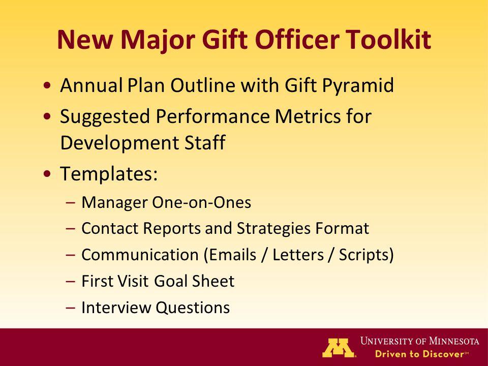 New Major Gift Officer Toolkit