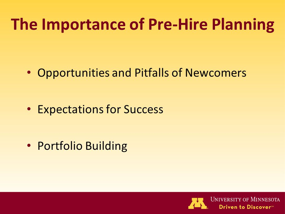 The Importance of Pre-Hire Planning