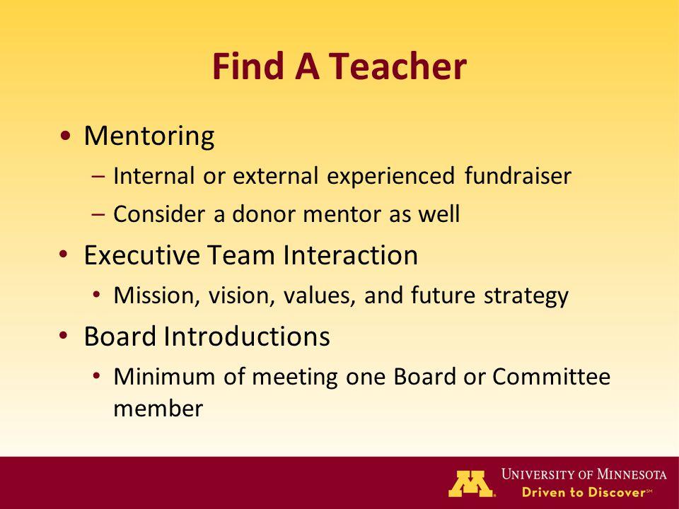 Find A Teacher Mentoring Executive Team Interaction
