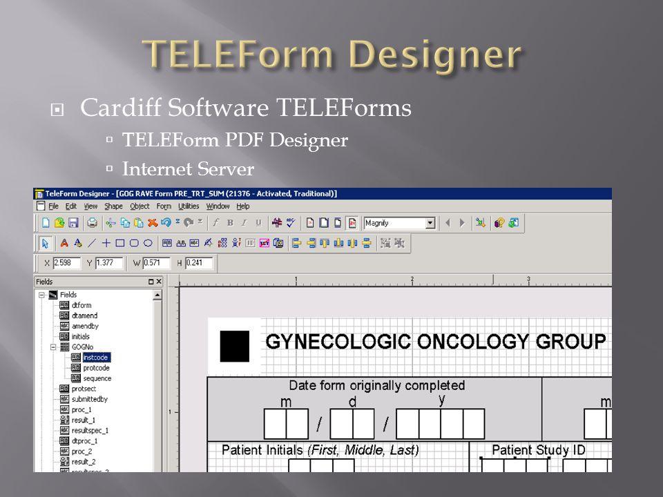 TELEForm Designer Cardiff Software TELEForms TELEForm PDF Designer
