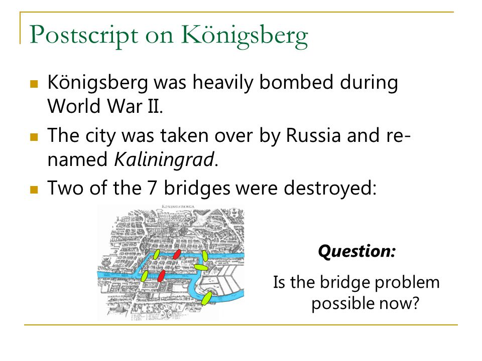 Postscript on Königsberg