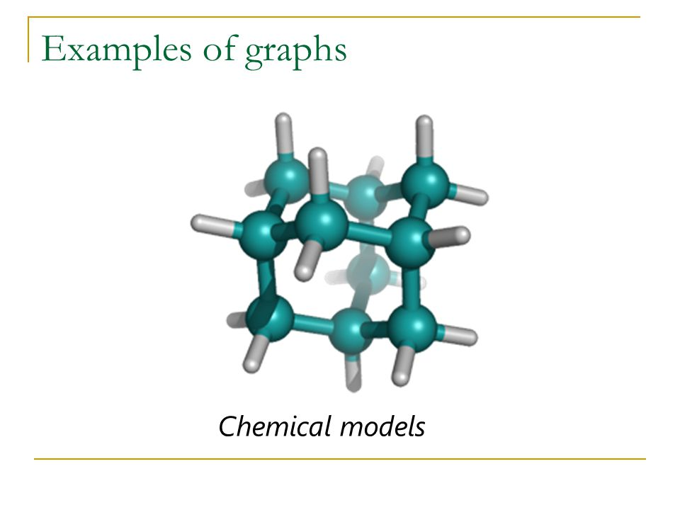 Examples of graphs Chemical models