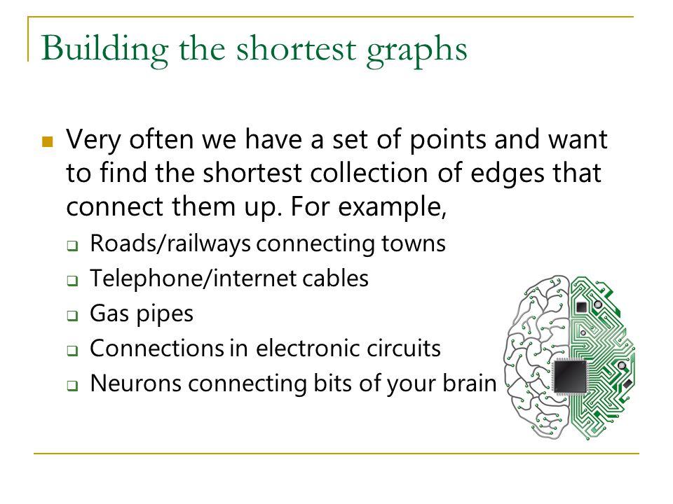 Building the shortest graphs