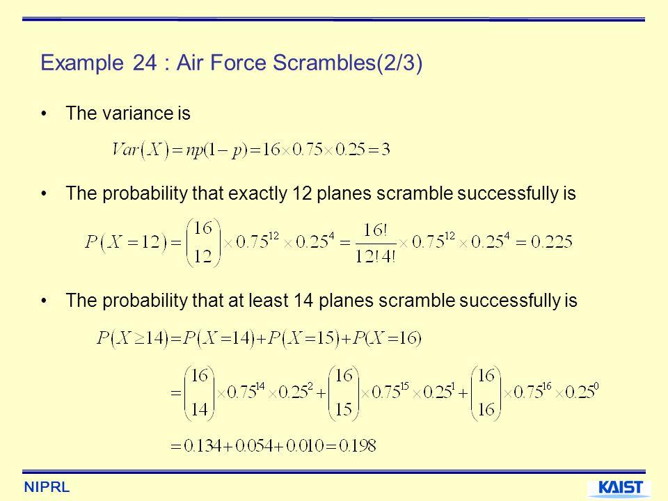 Example 24 : Air Force Scrambles(2/3)