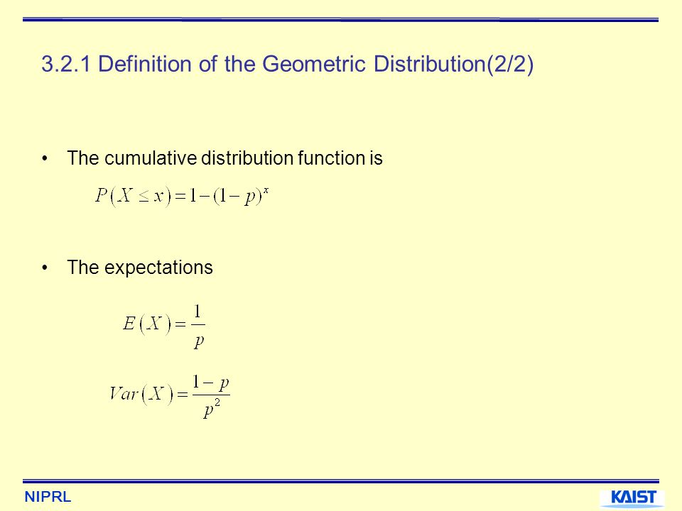 3.2.1 Definition of the Geometric Distribution(2/2)
