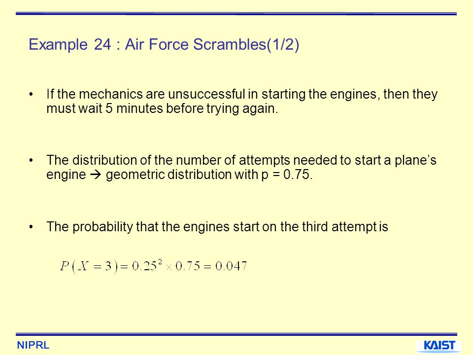 Example 24 : Air Force Scrambles(1/2)