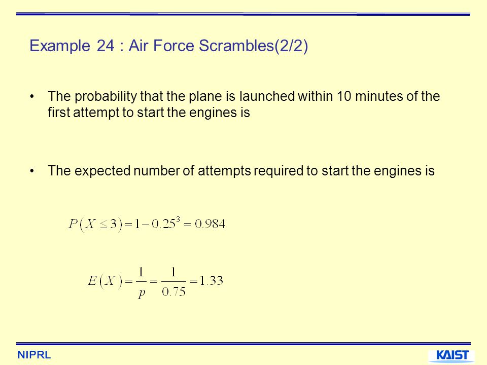 Example 24 : Air Force Scrambles(2/2)