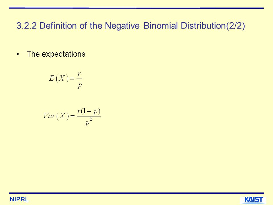 3.2.2 Definition of the Negative Binomial Distribution(2/2)