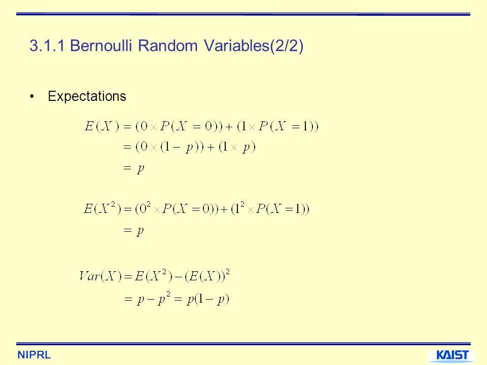 3.1.1 Bernoulli Random Variables(2/2)