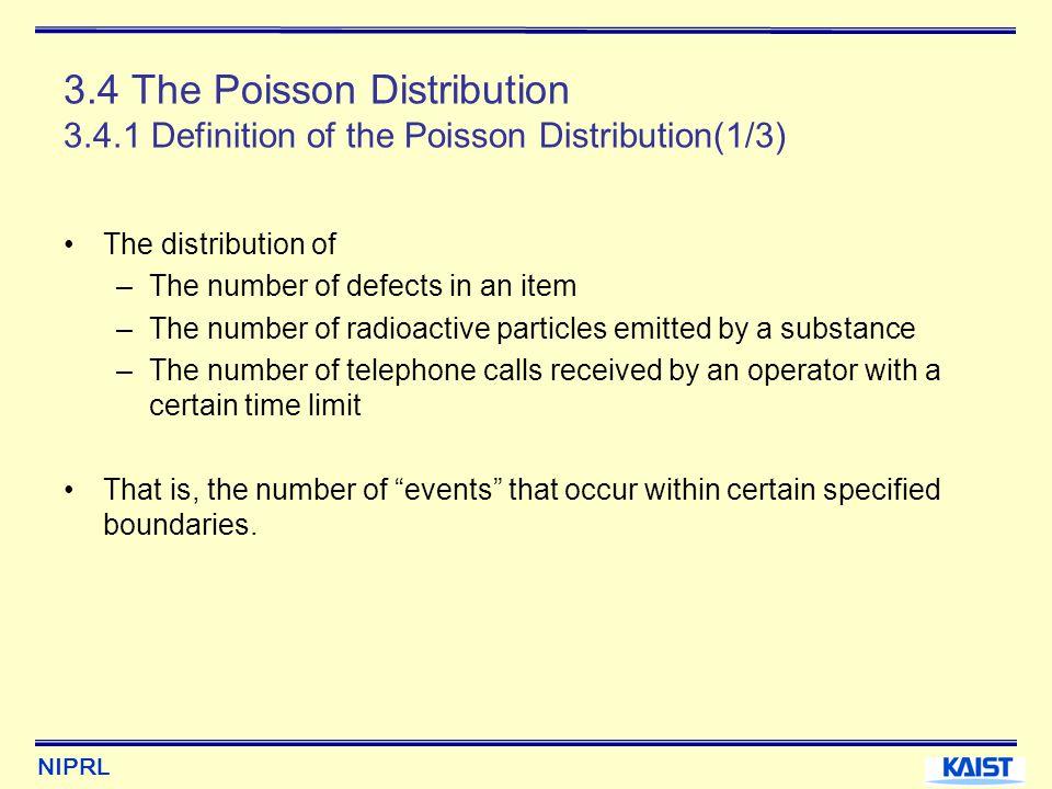 3. 4 The Poisson Distribution 3. 4