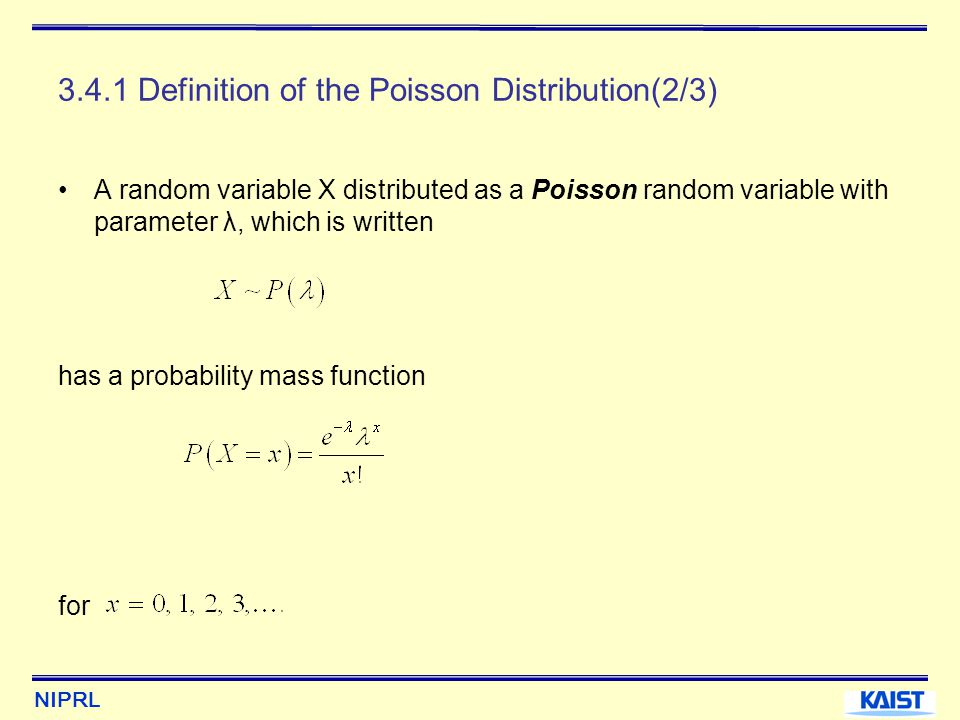 3.4.1 Definition of the Poisson Distribution(2/3)