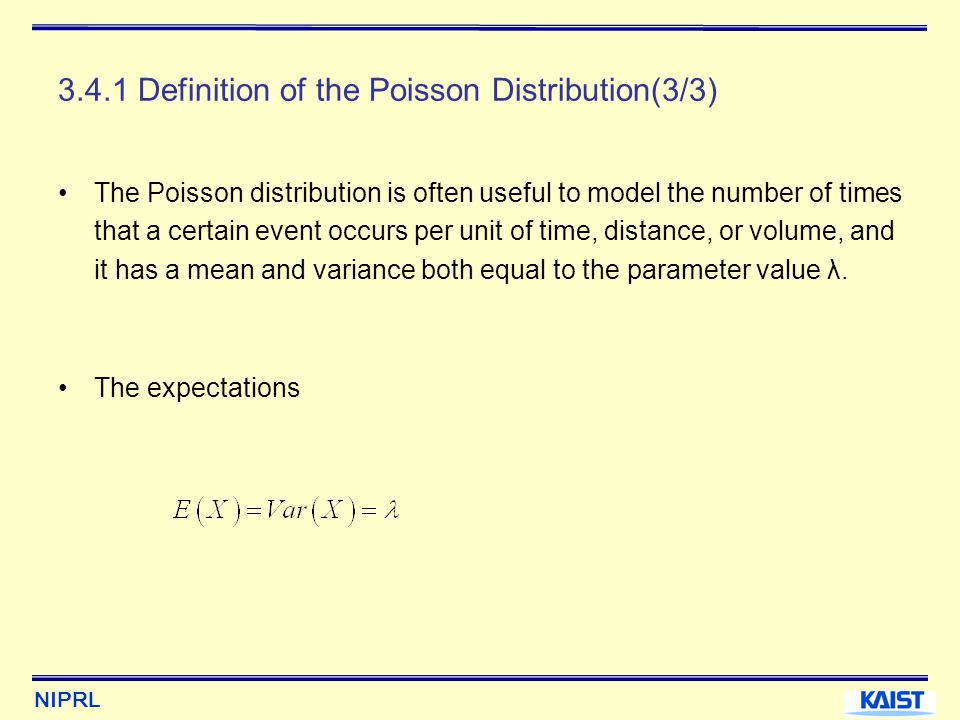 3.4.1 Definition of the Poisson Distribution(3/3)