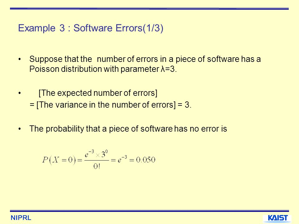 Example 3 : Software Errors(1/3)