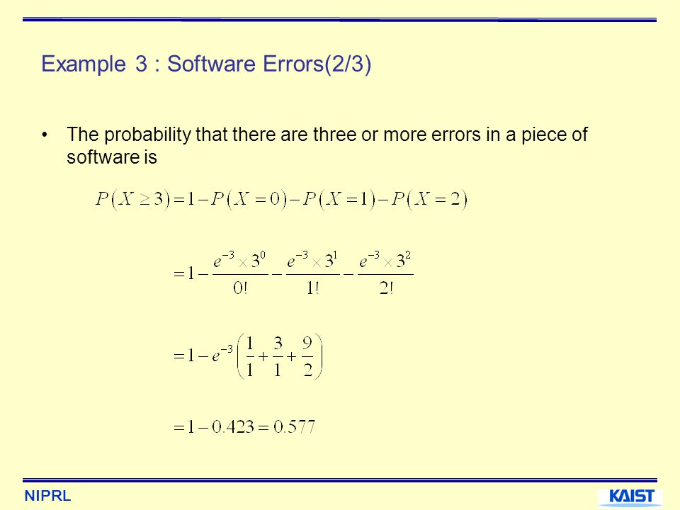 Example 3 : Software Errors(2/3)