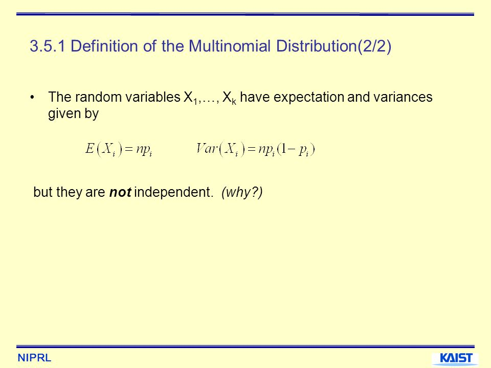 3.5.1 Definition of the Multinomial Distribution(2/2)