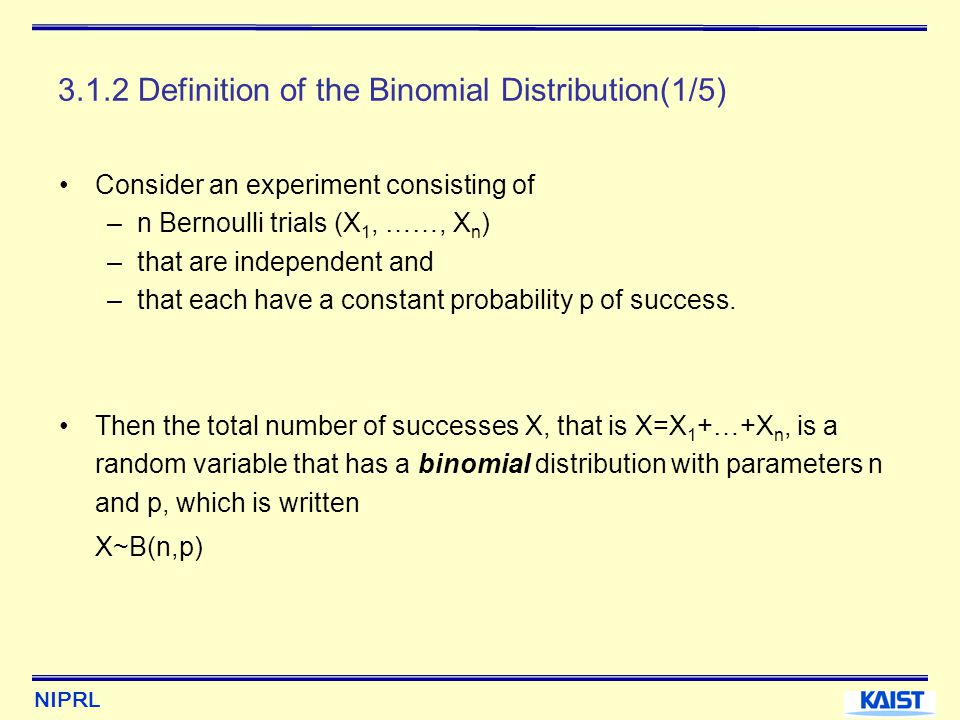 3.1.2 Definition of the Binomial Distribution(1/5)