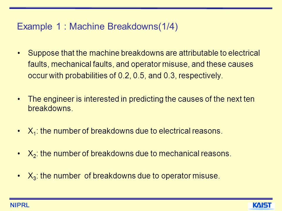 Example 1 : Machine Breakdowns(1/4)