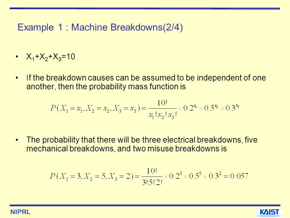 Example 1 : Machine Breakdowns(2/4)