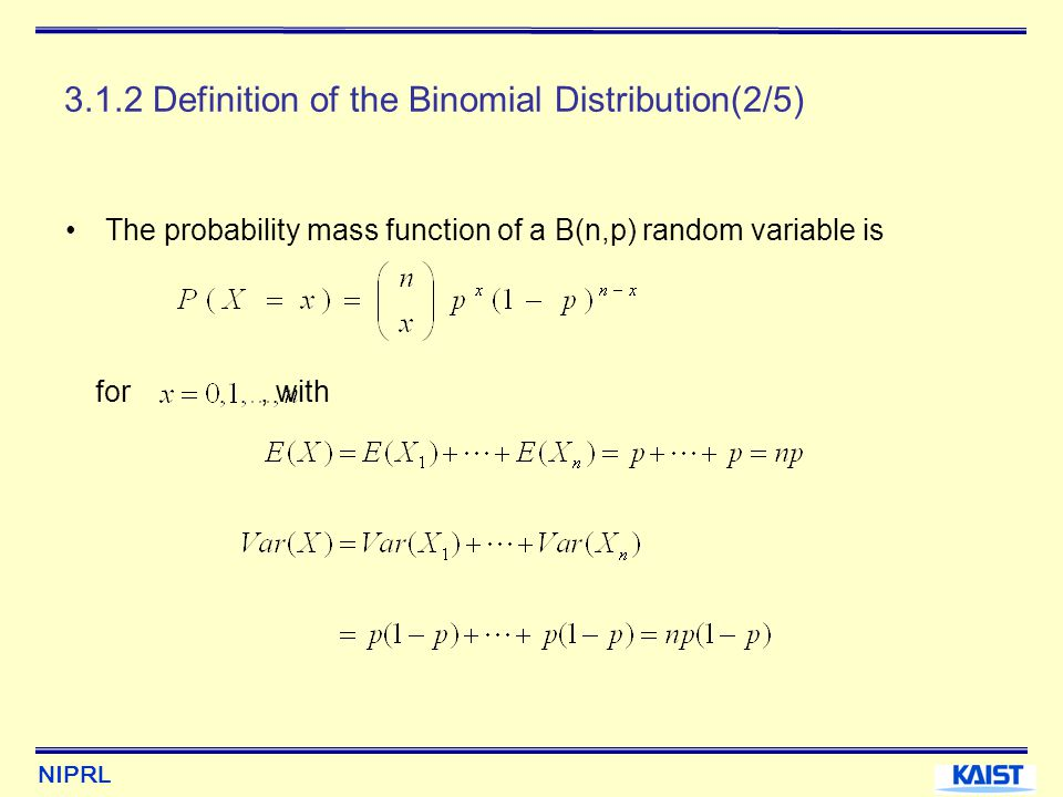 3.1.2 Definition of the Binomial Distribution(2/5)