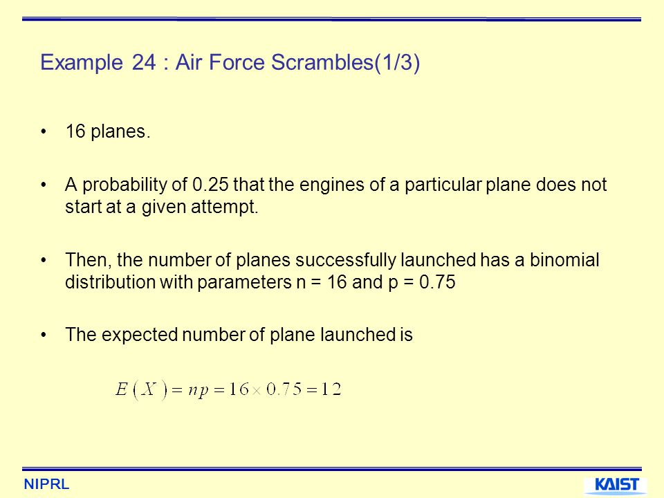 Example 24 : Air Force Scrambles(1/3)