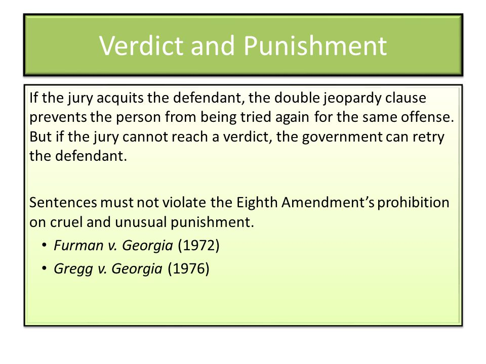 Verdict and Punishment