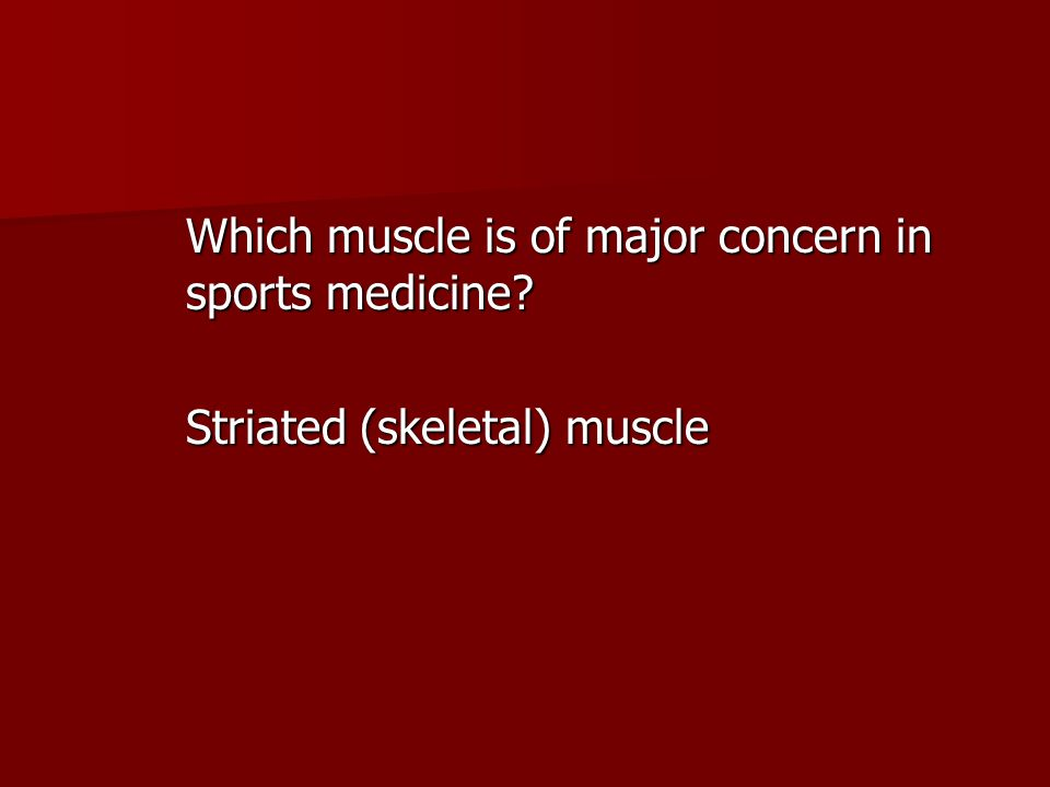 Which muscle is of major concern in sports medicine