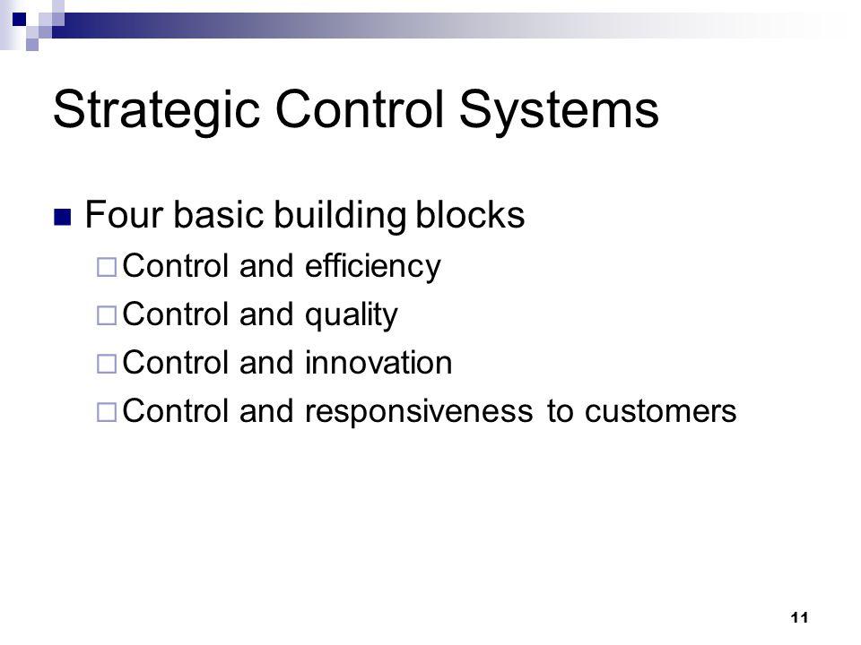 Strategic Control Systems