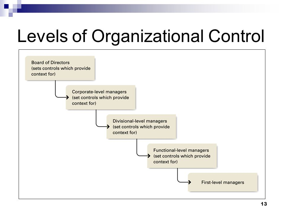 Levels of Organizational Control