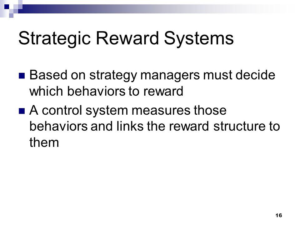 Strategic Reward Systems