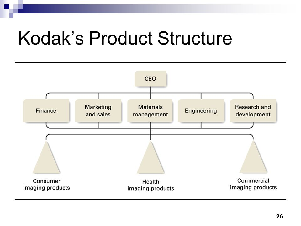 Kodak's Product Structure