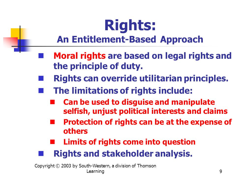 Rights: An Entitlement-Based Approach