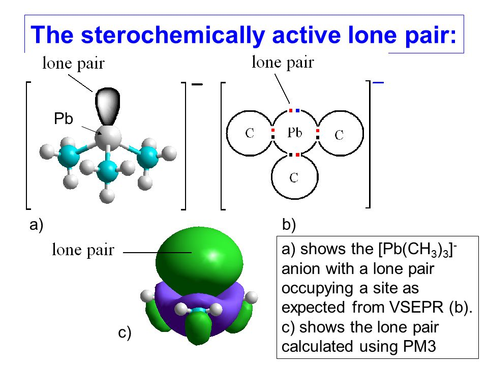 The sterochemically active lone pair: