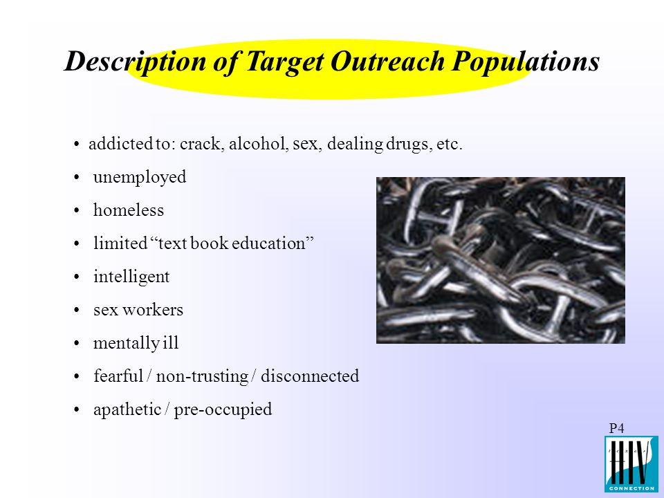 Description of Target Outreach Populations