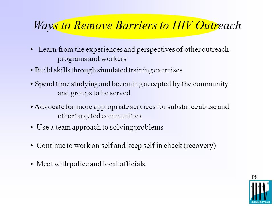 Ways to Remove Barriers to HIV Outreach