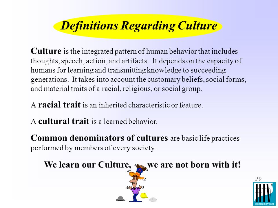 Definitions Regarding Culture