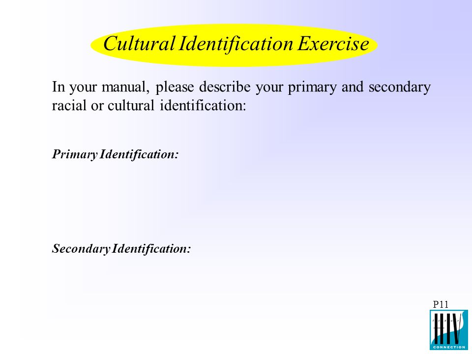 Cultural Identification Exercise