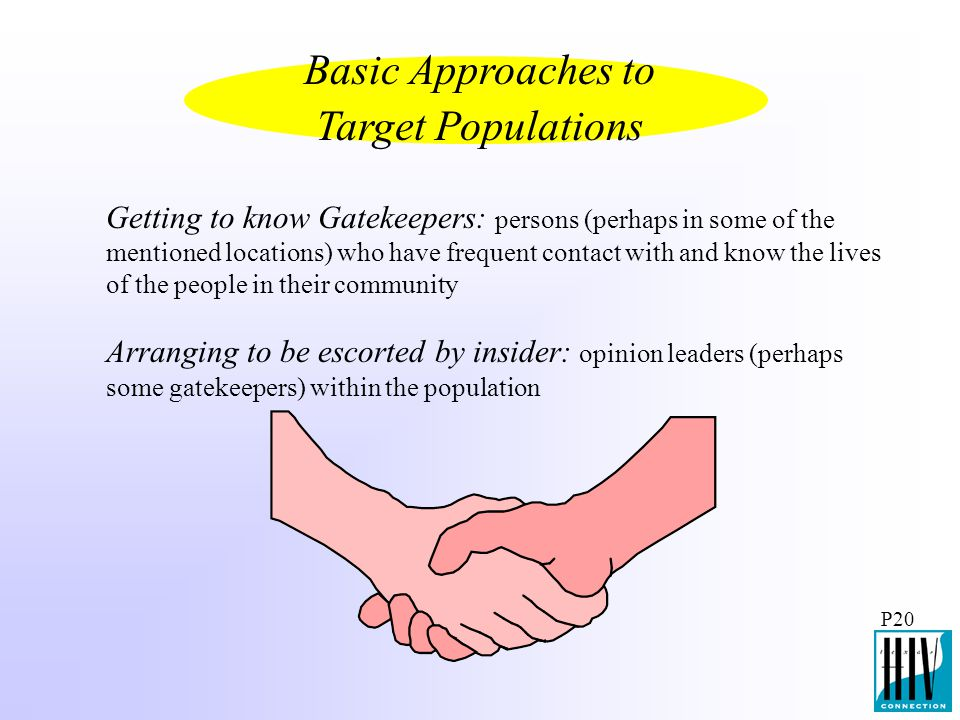 Basic Approaches to Target Populations
