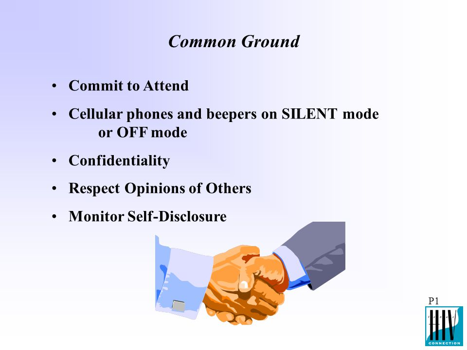 Common Ground Commit to Attend