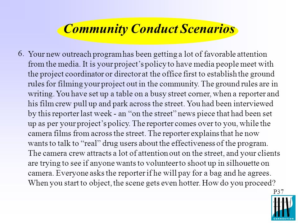 Community Conduct Scenarios