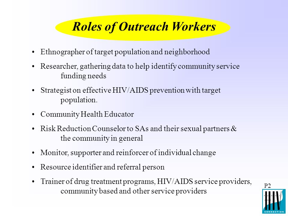 Roles of Outreach Workers