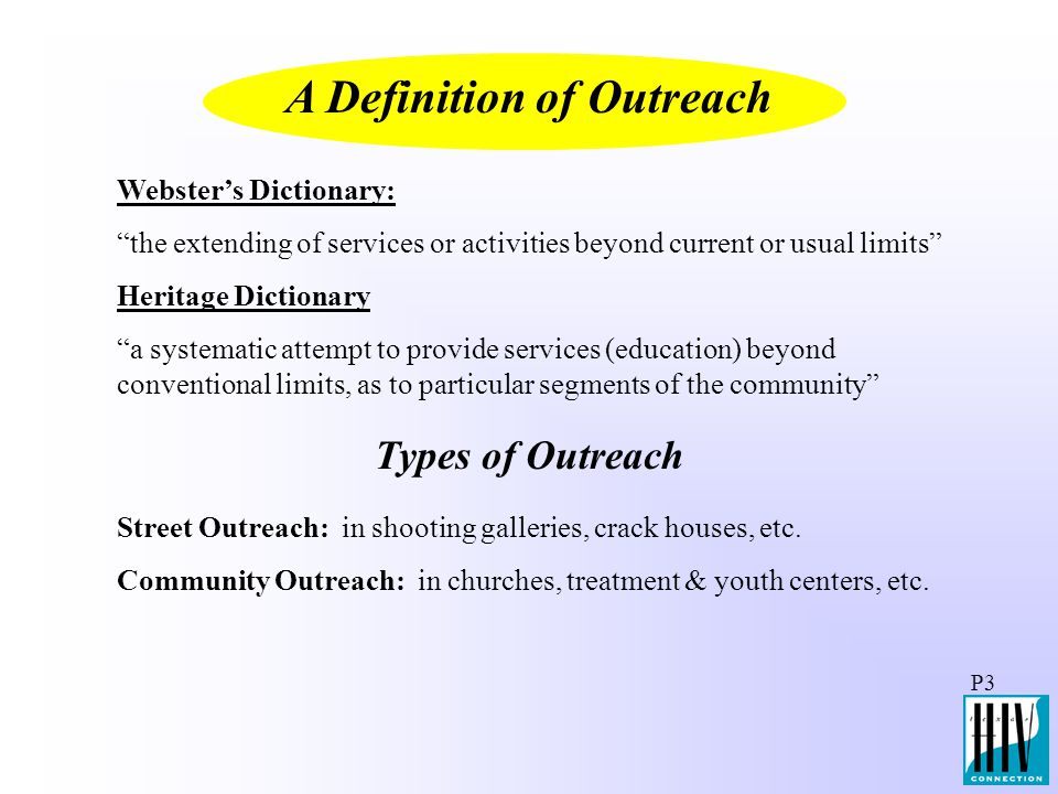A Definition of Outreach