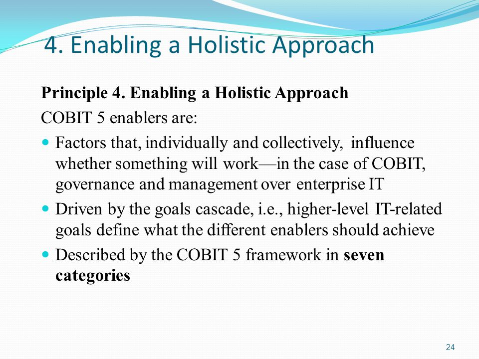 4. Enabling a Holistic Approach